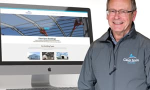 Thumbnail image for A redefined online presence for Clear Span Buildings